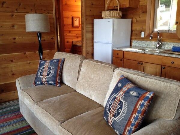 Cottage living room, Snug Harbor Resort, San Juan Island, Washington