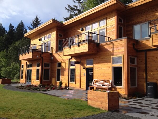 Main lodge, Snug Harbor Resort, San Juan Island, Washington