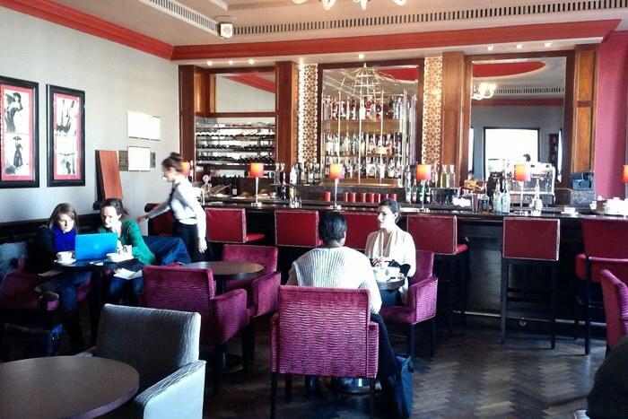 in the bar at Amba Charing Cross