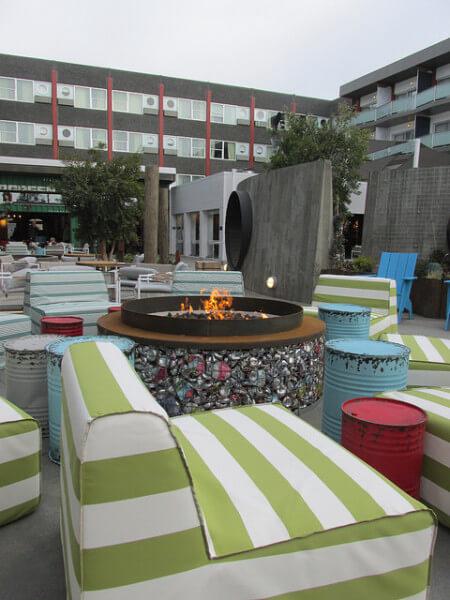 Hotel Zephyr, yard, San Francisco hotel