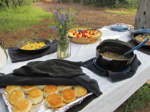 Wild Horse Sanctuary, cowboy breakfast, California,