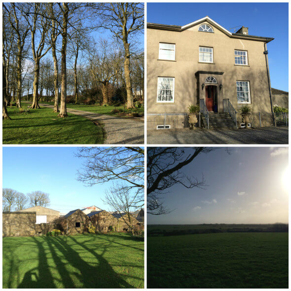 the Crug Glâs Country House Hotel grounds