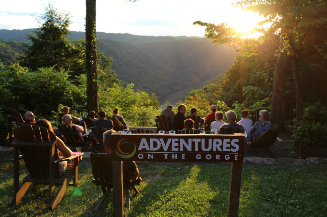 Sunset watching over the New River Gorge