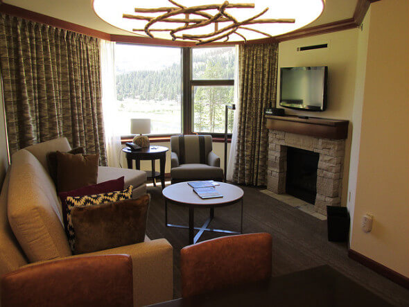 fireplace suite, resort at squaw creek, remodel