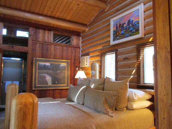 Piquette cabin, log cabin, triple creek ranch