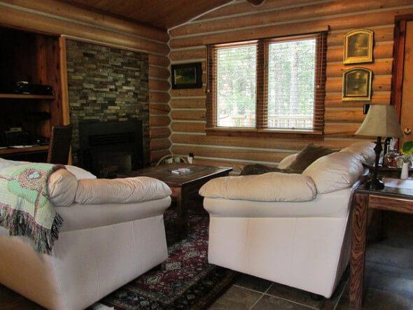 Triple Creek Ranch, log cabin, Montana