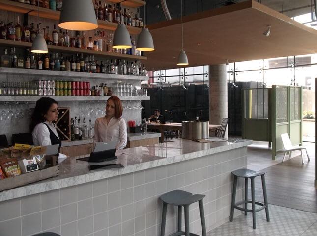 Reception and bar at Urban Villa