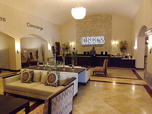 Crocs resort lobby