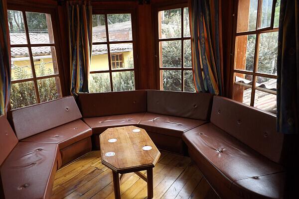 Peru travel hotel lounge