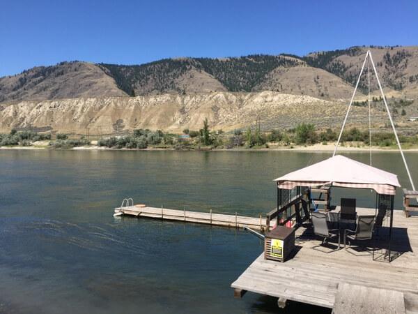 River deck, Riverside B&B, Kamloops, BC, Canada