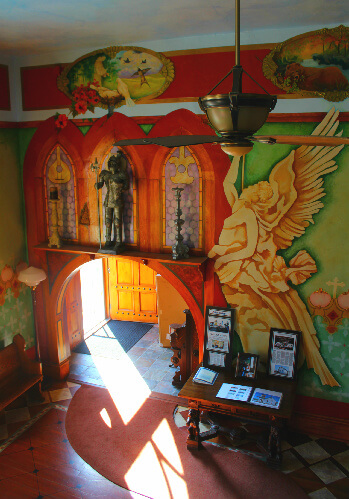 Local artist Liz Silliman painted murals and fanciful details throughout