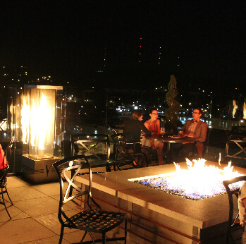 Vertex Sky Bar, intimate ambiance and a view.