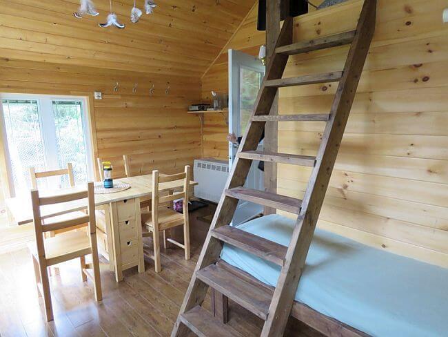 Inside a cabin at Aventuraid