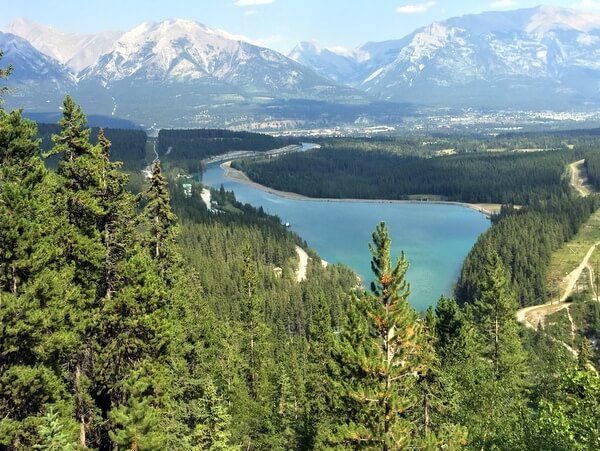 View from Grassi Lakes trail, Canmore Alberta