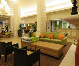 Colorful lobby Hilton Garden Inn LAX