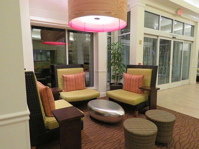Sitting area at Hilton Garden Inn LAX