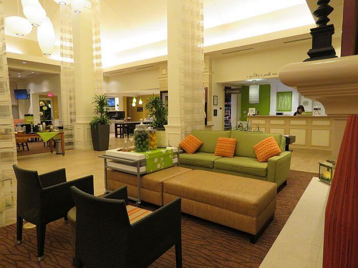 Colorful lobby Hilton Garden Inn LAX