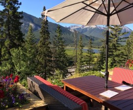 Patio views, Juniper Hotel, Banff