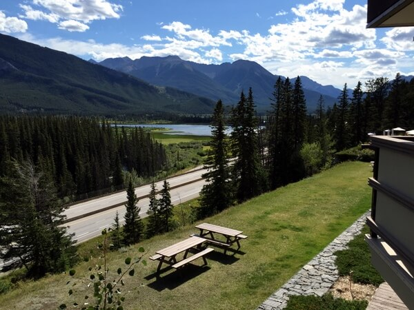 Guest room views, Juniper Hotel, Banff