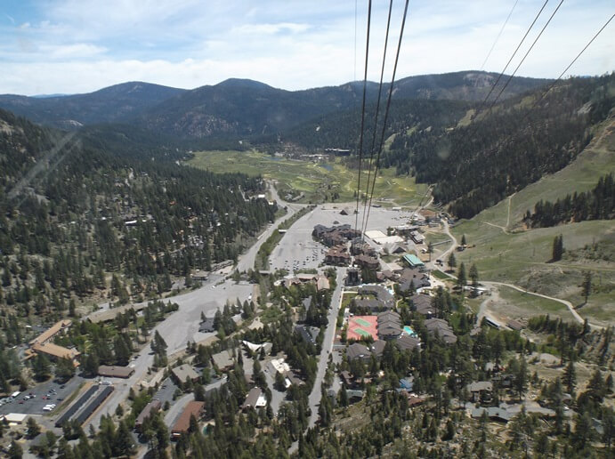 Aerial tram in Village at Squaw Valley