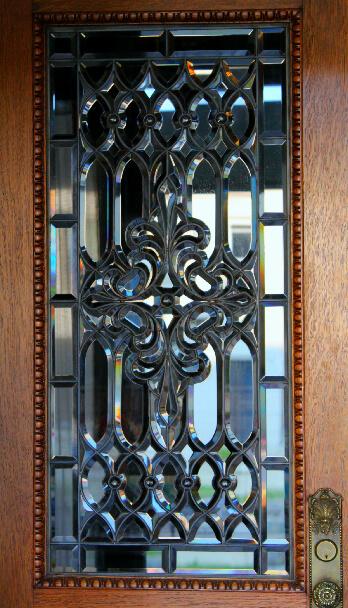 The front door details.