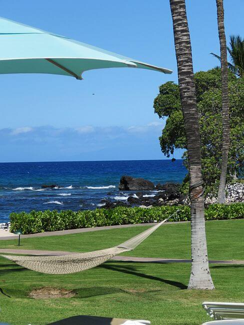 Lounge space at the Fairmont Orchid