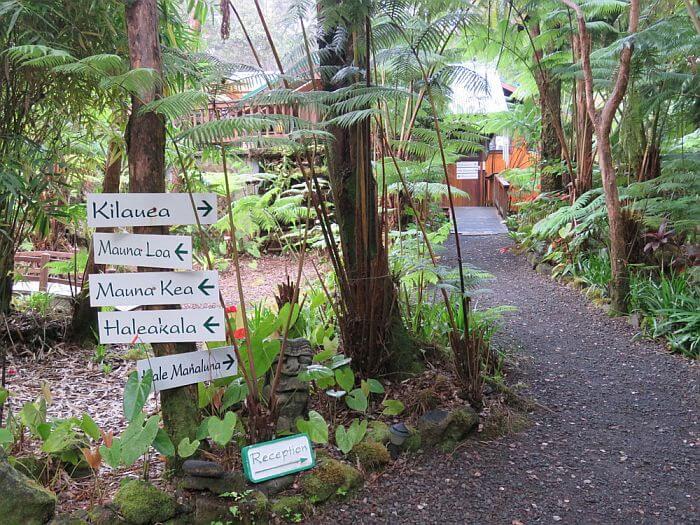Entrance to Volcano Village Lodge