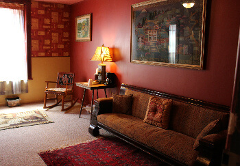 Sitting room of Sake, an Asian inspired accomodation