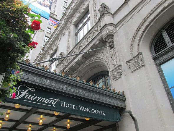 fairmont hotel vancouver, british columbia, hotel