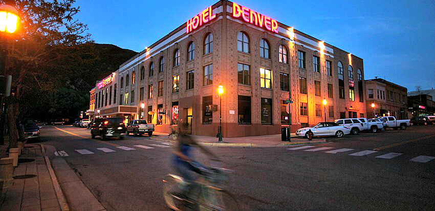 Just 3 hours west of Denver, the Hotel Denver in Glenwood Springs, Colorado, is close to our favorite hot springs, Iron Mountain.