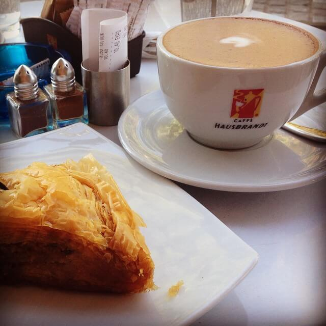 Coffee and baklava in Athens