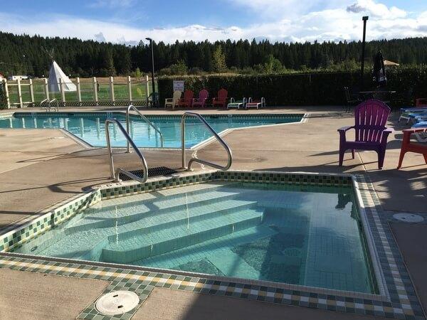 Pool, St. Eugene Resort, Cranbrook, BC Canada