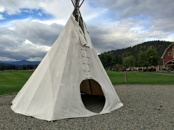 Teepee, St. Eugene Resort, Cranbrook, BC Canada