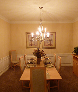vacation rental condo dining