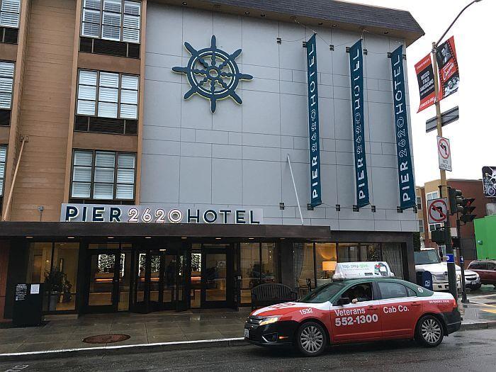 outside Pier 2620 Hotel