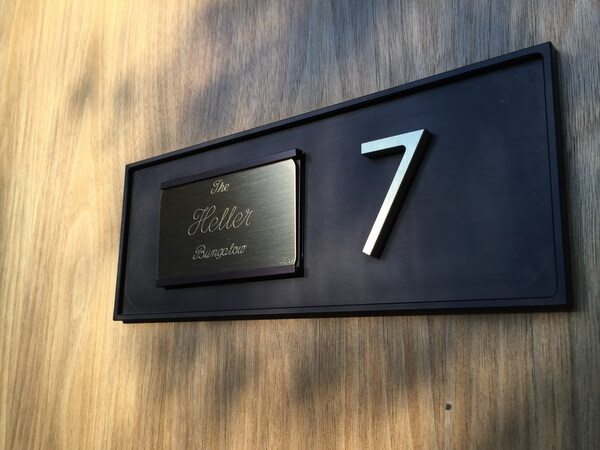 Name plate, L'Horizon Hotel Palm Springs California