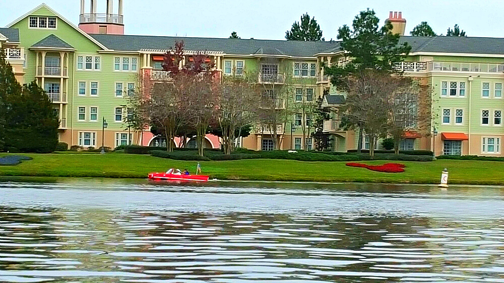Saratoga Springs view from Village Lake - Disney Springs