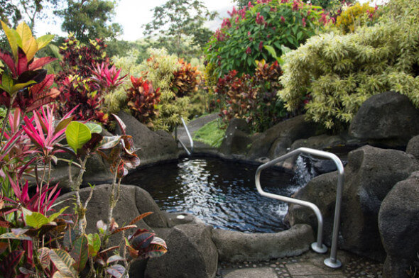A private thermal pool at the Arenal Kioro Resort