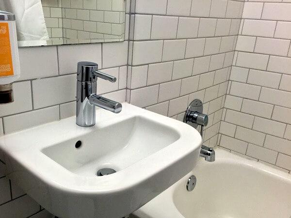 Bathroom, The Burrard Hotel, Vancouver, BC Canada