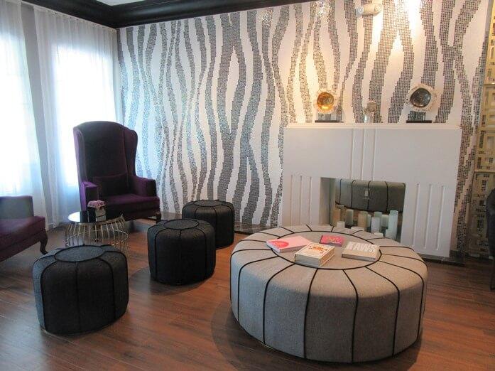 Reception area at L Hotel in Miami Beach