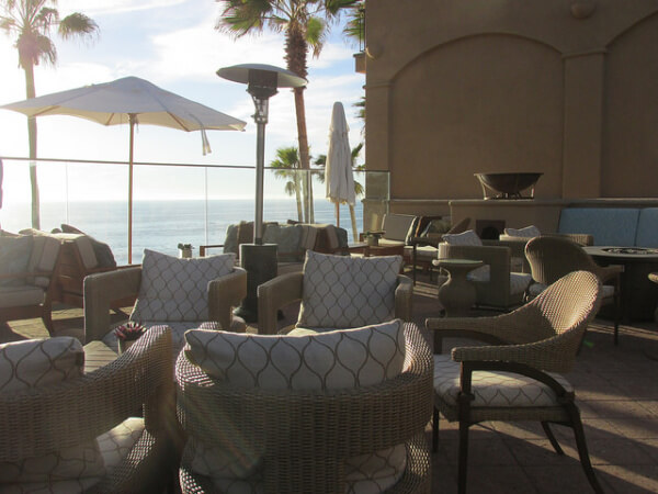 patio, laguna beach, pacific ocean, california