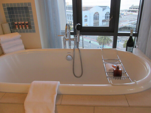 hotel vitale, soaking tub, hotel, san francisco, california