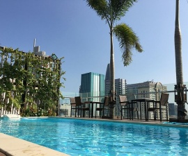 Rooftop Pool at Paragon Saigon Hotel