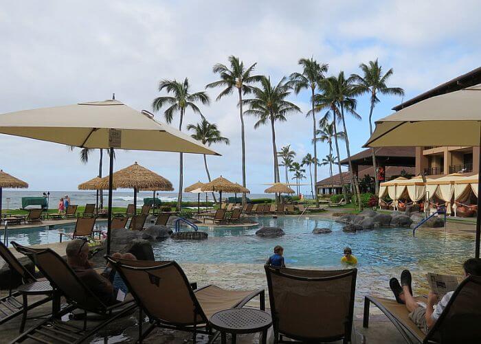 Sheraton Kauai Resort Oceanfront pool