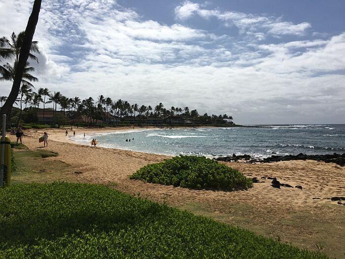 Sheraton Kauai Resort beach