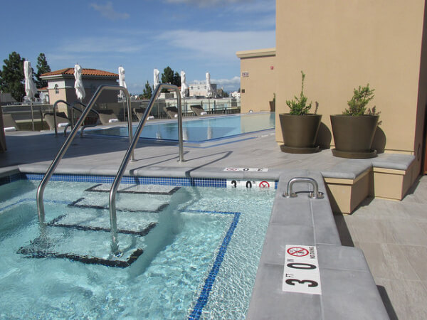 rooftop pool, clement hotel palo alto, clement hotel pool