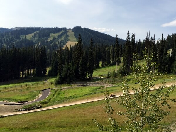 Guest room view, Sun Peaks Grand Hotel, BC, Canada