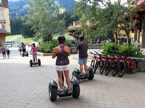Segways, Sun Peaks Resort, BC, Canada
