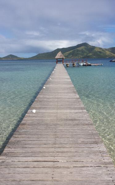 Fiji island dock