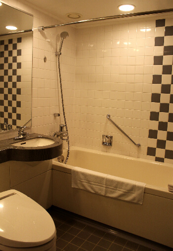 The bathroom is spacious, clean and perfect after a 12 hour flight